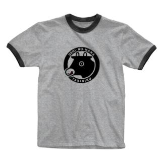 牛の華グッズ Ringer T-shirts