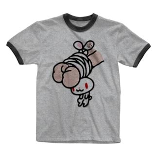 【各20点限定】汎用うさぎ(1) Ringer T-shirts
