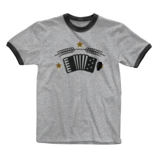 ロケット姉妹 アコとギターヘッド サッポロ風味 Ringer T-shirts