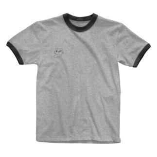 まゆ猫。おとな Ringer T-shirts
