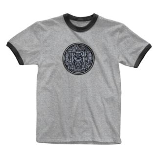 コックピット・柴犬(黒柴) Ringer T-shirts
