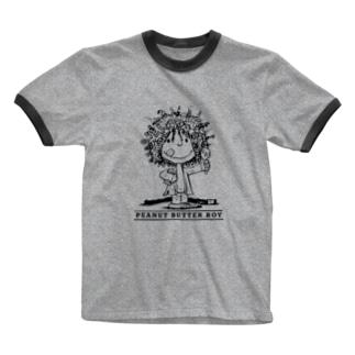 ピーナッツバターボーイ Ringer T-shirts