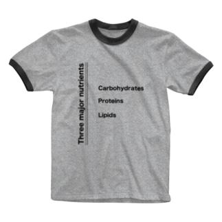 3大栄養素 Ringer T-shirts