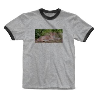 猫 Ringer T-shirts