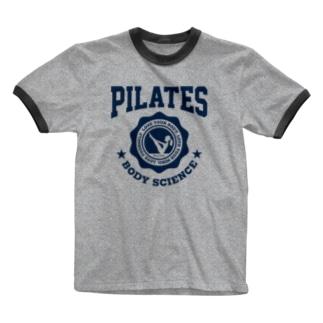 ピラティス PILATES A light Ringer T-shirts