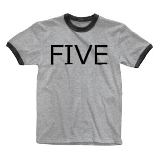 たまに見るアレ風FIVE Ringer T-shirts