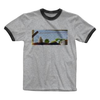 白文鳥のチマフミ Ringer T-shirts