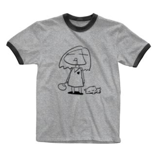 だるだる夏休み Ringer T-shirts