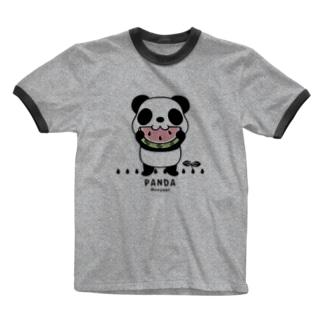 CT169 ズレちゃんとTWIN PANDAS*B Ringer T-shirts