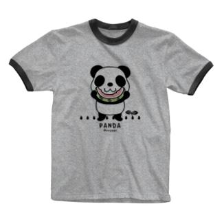 CT169 ズレちゃんとTWIN PANDAS*C Ringer T-shirts