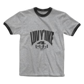 LUV Y'UKE 4 LIFE Ringer T-shirts