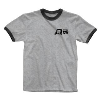 APイラスト+英語(黒) Ringer T-Shirt
