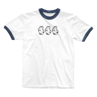 nsnの3(IWA) Ringer T-shirts