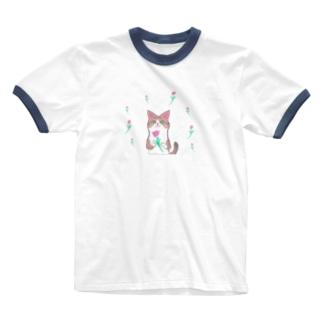 綺麗なおめめ【お花ver.】 Ringer T-shirts
