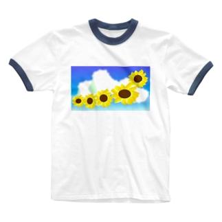 sunflower Ringer T-shirts