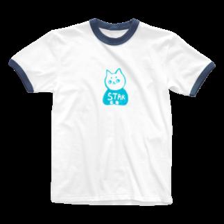 vagの麻呂眉川さん「STAR」 Ringer T-shirts