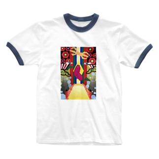 高野山‐kouyasan‐ Ringer T-shirts