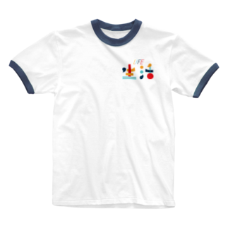 Koma-Gomaの生活の色 Ringer T-shirts