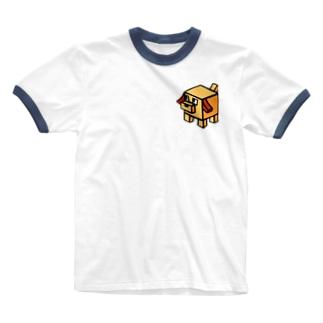キューブ犬 Ringer T-shirts