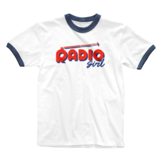 ねこぜもんのRADIO girl Ringer T-shirts