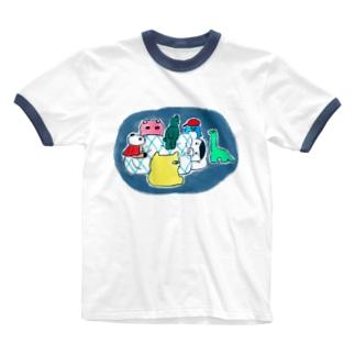 ねむれない Ringer T-shirts