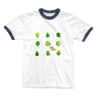 zentoyのwoods and dragon Ringer T-shirts
