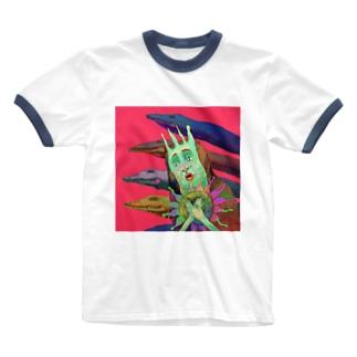 聖ポヨリーナ Ringer T-shirts