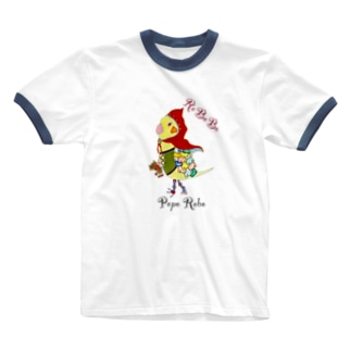 ROBOBO オカメインコ「ポポロボ」 Ringer T-shirts