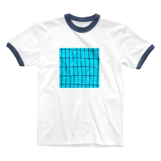 夏のプール Ringer T-shirts