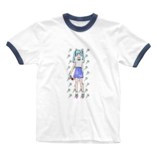 おはな Ringer T-shirts