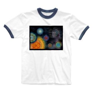 太陽系の惑星曼荼羅 Ringer T-shirts