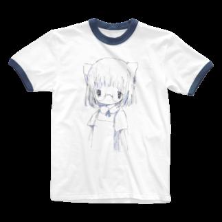 「ごめん々ね 」と言っの白い Ringer T-shirts