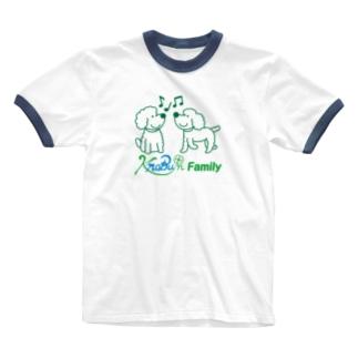 ツインズ(プードル)ロゴ入り Ringer T-shirts