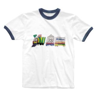 りしゆな:SL by はせりょう Ringer T-shirts