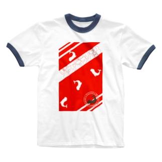 シャチホコじゃないよ、ゾウアザラシだよ 2 赤/白 Ringer T-shirts