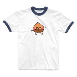 栗どん  Ringer T-shirts