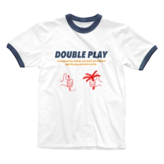 DOUBLE_PLAYのRinger t-shirt colorful  Ringer T-shirts