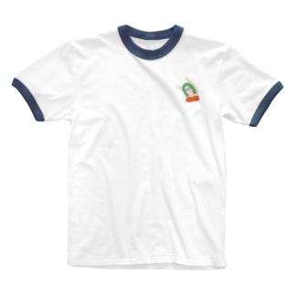 エイミー. 橙 Ringer T-shirts