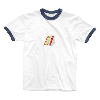 フルーツサンド Ringer T-shirts