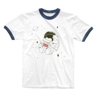 ペンギンコール・うちゅう Ringer T-shirts
