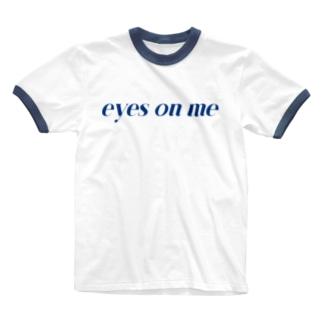e_o_m ロゴタイプ Ringer T-shirts