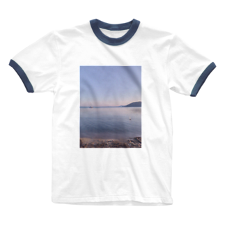rONide.のたそがれうみ。 Ringer T-shirts