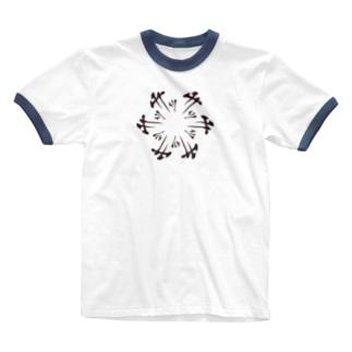 円サッサッサ Ringer T-shirts