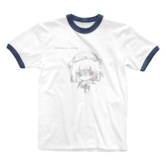白っぽい羽音 Ringer T-shirts