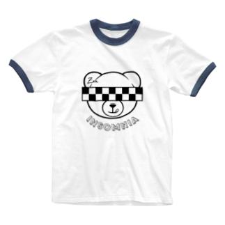 Xxx bear / checker Ringer T-shirts