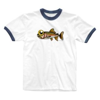 トラウトくん Ringer T-shirts