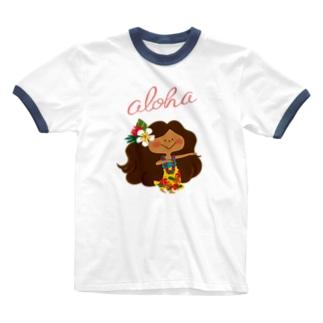 aloha! HULA KAPUA Ringer T-shirts