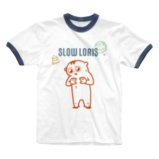 スローロリス Ringer T-shirts