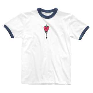 iKR,の食べられる直前のイチゴっち Ringer T-shirts