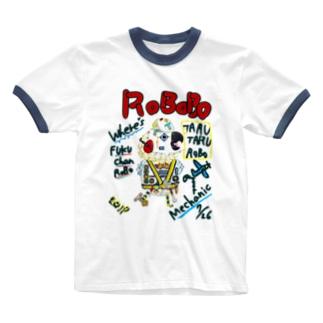 ROBOBO🤖 「たるたるロボ」 Ringer T-shirts
